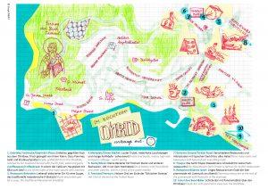 Food drink map Ohrid Stadtplan Ohrid Essen Trinken